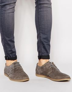ASOS+Derby+Shoes+in+Suede+With+Piped+Edging
