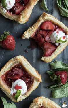 These strawberry rhubarb galettes are the perfect summer treat! With only 5 minutes of prep, this recipe is super easy to follow and a fun take on the classic strawberry rhubarb pie. You won't be able to eat just one!