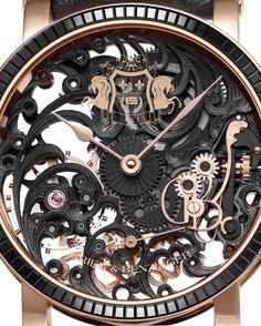 Grieb & BENZINGER Black Tulip Sabudha Imperial - skeleton dial is a unique piece for Simply Abu Dhabi magazine.