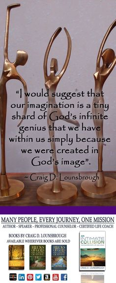 I often wonder if my imagination is one of God's choicest gifts bestowed upon me to deliberately break me free from the frequent doldrums of my humanity.  See more at https://clounsbrough.wordpress.com/.