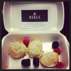 Thank you @Noble_Mind for the treats! #treats #halifax #downtown #thankyou #surprise #secret #hiddengem #staff #sweets #berries @The Middle Spoon Desserterie & Bar