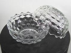 Vintage Cubist USA Whitehall Indiana Glass, 1980's Fairy Votive Lamp! #Indiana