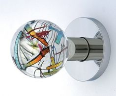 Stained glass doorknob