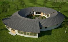 Torus Design with E-Cat / LENR home power system - dome house Round House Plans, Bird House Plans, Casa Octagonal, Granny Pods, Greenhouses For Sale, Earth Bag Homes, Silo House, Casa Patio, Dome House