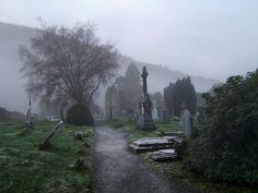 Wicklow Graveyard 03 by *StudioDavis on deviantART Cemetery Headstones, Old Cemeteries, Graveyards, Highgate Cemetery, Creepy Images, Dark Tree, Danse Macabre, Dark Paradise, Six Feet Under