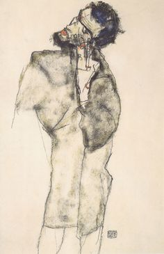 Egon Schiele - Selbstbildnis als Asket - 1913 - Selfportraits by Egon Schiele - Wikimedia Commons Google Art Project, Digital Museum, Collaborative Art, Gustav Klimt, Mirror Image, Art Google, Modern Art, Art Projects, Drawings