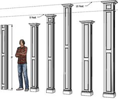 Interior Columns Decorative Wood Columns Dream Home Design Ideas Pinterest Wood Columns