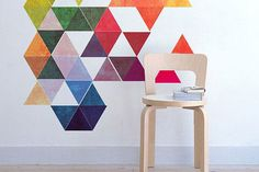 Interieur trend: geometrische vormen op de muur. 15 inspirerende voorbeelden - Voorbeeld 1