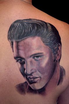 Elvis Presley Portrait Tattoo  See more at:http://www.hot-­‐lyts.com/ for more quotes  #tattoo #quotes