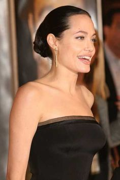 Angelina Jolies elegant sleek bun hairstyle