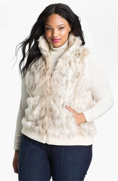 long faux fur vest - ashley stewart | fashion for the fatshionista