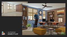 """Check out my #interiordesign """"Zephyr Office"""" from #Homestyler http://autode.sk/1h8NBi9"""