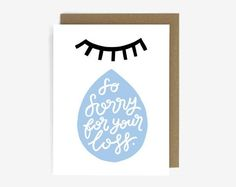 So Sorry For Your Loss Sympathy Screen Printed by WorthwhilePaper. A collection of cute, contemporary sympathy cards. Curated by Memory Press, creators of beautiful, uplifting, and memorable funeral programs. Empathy Cards, Sympathy Greetings, Sorry For Your Loss, Diy Canvas Art, Postcard Design, Diy Cards, Homemade Cards, Letterpress, Screen Printing