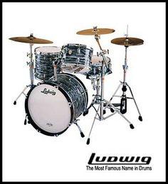 Scott's 1973 Ludwig drum kit in Black Oyster - just like Ringo's