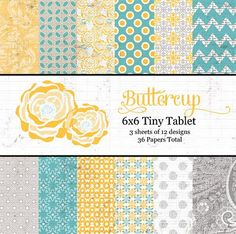 This is my favorite line of the entire CHA 2012. Lily Bee's Buttercup.  Shipping March 5!