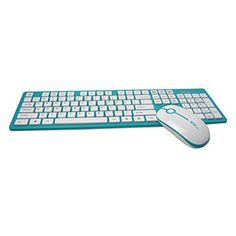 9ba80495bef FOME QWERTY Energy Saving Slient Fashion Ultra Slim Wireless Keyboard and  Mouse combo with Dustproof keyboard membrane Green FOME Gift *** Check out  the ...