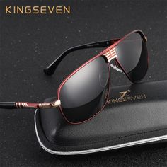 96004ad2f5 KINGSEVEN New Arrival Polarized Sunglasses Men Brand Designer Fashion Eyes  Protect Sun Glasses With Accessories Box