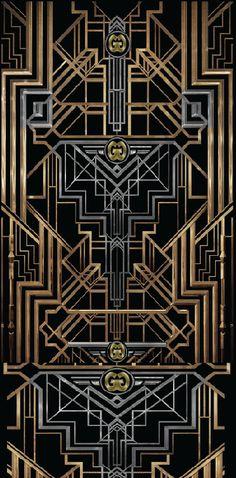 The Great Gatsby - typefaces used: Atlas, Atlas Solid, ITC Avant Garde Gothic, Newport Classic SG, Governor Motif Art Deco, Art Deco Design, Art Deco Posters, Poster Prints, Art Nouveau Furniture, Hotel Concept, Banner Backdrop, Art Deco Buildings, Ancient Egyptian Art