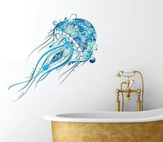 Adds a stylish touch to your bathroom décor.  Wall Decal by AK WALL ART.  Available in 3 sizes. Please select one that best fits your decorating needs.