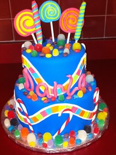 Candyland Theme Birthday Cake