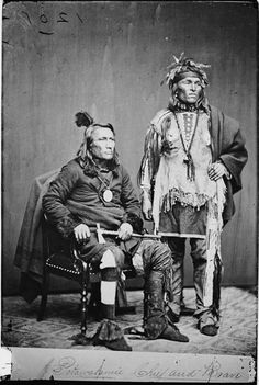 """Potawatamie Cfief and Brave"" from the Library of Congress Photo Collection, 1840-2000"