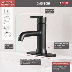 Single Handle Bathroom Faucet, Bathroom Sink Faucets, Bathroom Fixtures, Delta Trinsic, Modern White Bathroom, Contemporary Baths, Delta Faucets, Faucet Handles, Water Conservation