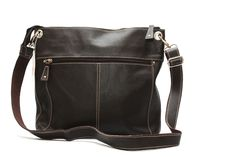 Genuine leather handbag on sale at Leatheropia. Available in multiple colors. Sale Price: $55.20 CAD.