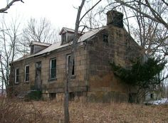 The PETER B. SARCHET HOUSE, located north of Cambridge on SR 365, is a spectacular remnant of Guernsey County settlement architecture, built for a member of one of Guernsey County's founding families. Guernsey County dates its existence from 1806, when Thomas Sarchet and his family emigrated from the Isle of Guernsey and settled on the present site of Cambridge. The family included five sons, one of whom was Peter (1800-?), for whom this stone dwelling was constructed.