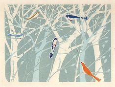 Card design by woodblock printing company Mocchi Mocchi