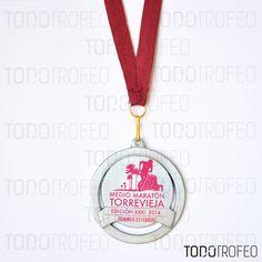 MEDALLA MEDIO MARATÓN DE TORREVIEJA 2014.   Diseñamos las medallas para su evento deportivo. Pide su presupuesto a través de: todotrofeo@todotrofeo.com    TORREVIEJA HALF MARATHON MEDAL 2014.  We design your sport event medals. Request your budget in: todotrofeo@todotrofeo.com