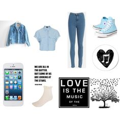 A fashion look from July 2013 featuring blue shirt, levi jacket and blue jeans. Browse and shop related looks. Levis Jacket, Look At The Stars, Blue Jeans, Fashion Looks, Love, Polyvore, Jackets, Shirts, Shopping