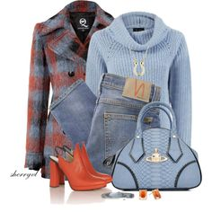Plaid Coat Contest by sherryvl on Polyvore featuring McQ by Alexander McQueen, Nudie Jeans Co., Alexander Lewis, Vivienne Westwood, Alexis Bittar, MARC BY MARC JACOBS and Reeds Jewelers