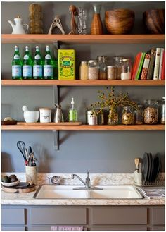 Small Living 101: Smart Space Savers for Your Kitchen Walls  #homedecor #home #diy #kitchen