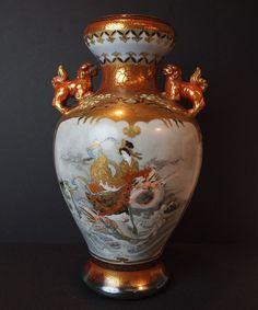 Meiji Kutani vase, signed Master Taniguchi