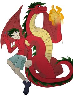 Jake Long by Red Dragon, Dragon Art, Old Cartoons, Disney Cartoons, Randy Cunningham Ninja Total, Jake Long, American Dragon, Pixar, Cartoon Crossovers