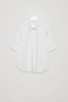 COS image 2 of Short-sleeve poplin shirt in White