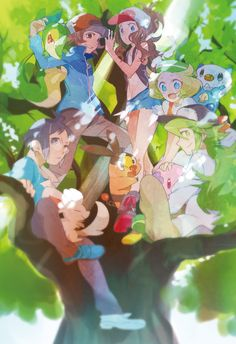 Pokemon Black and White Black/Hilbert,White/Hilda,Bianca,Cheren, & N