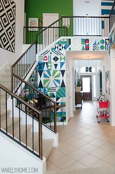 Come with me as I accessorize my staircase with items from At Home