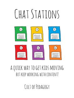 Students sitting around too much? This post shows you how to use Chat Stations, an easy way to get kids more engaged while still working with content. Video tutorial included.