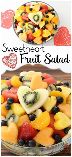 Sweetheart Fruit Salad - a simple, lovely take on fruit salad with a tangy sweet honey glaze everyone loves! Perfect for your Valentine~ recipe from Butter With A Side of Bread AD #InspiredGathering