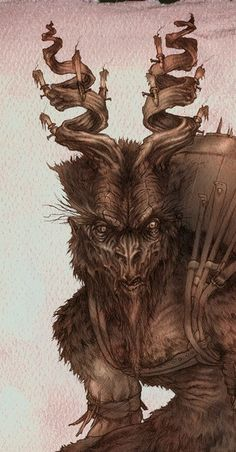 Krampus Art | EasyNip | Krampus and other demons, with a bit of Yule cheer