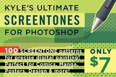 Check out Kyle's SCREENTONE Brushes! by Kyle's Pro Design Tools  on Creative Market