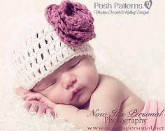 Crochet Hat PATTERN Simple Beanie Hat Crochet by PoshPatterns