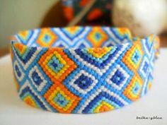 Normal friendship bracelet pattern added by PinkFluffy. Making Friendship Bracelets, Friendship Bracelet Patterns, Bracelet Making, Thread Bracelets, String Bracelets, Alpha Patterns, Colorful Bracelets, Bracelet Tutorial, Crafty Craft