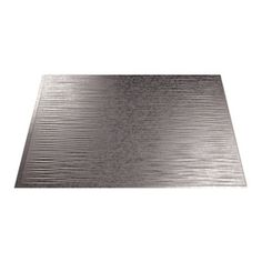 Fasade Ripple X Galvanized Steel Backsplash Panels Galvanized Steel, Steel Backsplash, Metal Sheeting, Install Backsplash, Steel, Metallic Backsplash, Sheet Metal Backsplash, Paneling, Backsplash Designs