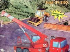 Sakai SV510D Road Roller and Tatra 815 AV 14 Crane Free Construction Vehicle Paper Models Download
