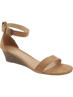 Women's Sueded Wedge Sandals Product Image