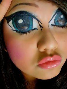 13 Anime Face Painting Ideas Halloween Makeup Halloween Costumes Makeup Face Painting