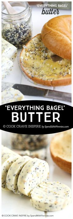 'Everything Bagel' Butter! If you love that crunchy garlicky delicious topping on your everything bagel you'll go crazy for this butter! We put it on everything from english muffins and toast to veggies and corn!