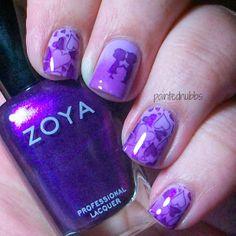 Painted Nubbs: AIS: 3 Purple